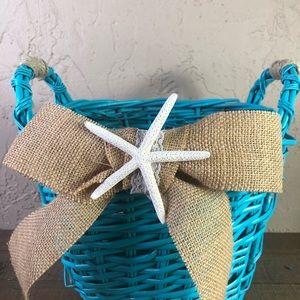 None Accents - Beach wedding basket beach house decor